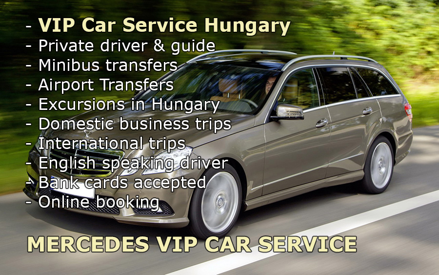 Private car transfers from Venice city or Venice Airport to Budapest. - Taxi cab appropriate for maximum of 3 persons, station wagon combi or sedan. We suggest our E-class Mercedes estate car with air-conditioning and big luggage-rack for airport transfer and airport pickup. We accept bankcards in case of prearrangement.