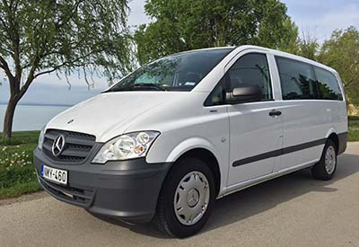 Siófok Minibus – Mercedes minivan for 9 passengers. Budapest Airport - Ozora Festival Shuttle Service – Mercedes minibus for 8 passengers, fully air-conditioned, premium category. Best option for companies, English, German, Hungarian speaking driver.Between Budapest Airport and  Ozora Festival, the price can be more reasonable than travelling by train or bus