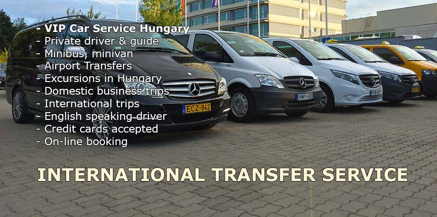 Minibus, minivan transport from Vienna Airport to Budapest, private car transfers with English speaking driver